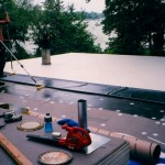 Residential White Rubber Membrane Replacement Roof Elkhorn, WI